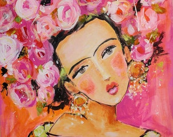 Flowers for Frida- Canvas Print
