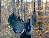 Geode Wind Chime on Driftwood.   #89