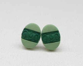 hs-Green Easter Egg Stud Earrings