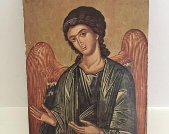 Vintage Religious Wooden Plaque