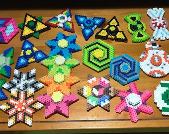 Unique Perler Fidget Spinner  choose your own pattern, Made to Order. Rainbow, Batman, Pokeball