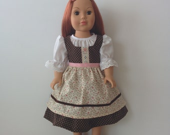 Austrian Style Dirndl for American Girl and Other 18 inch Dolls