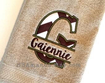SPLIT APPLIQUE TOWELS