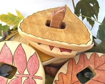 wooden stacking toy, wooden toys, waldorf, toddler toys, stacker, educational toys, autumn