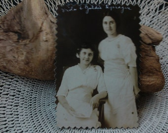 Vintage Photograph, 2 Women, Victorian, Ephemera, Early 1900's, Edwardian