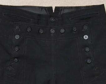 Vintage men's blue wool navy uniform pants/ Vint navy uniform pants