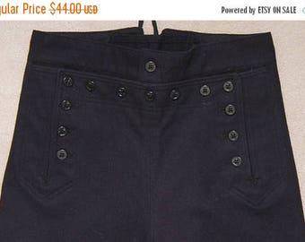 SALE Vintage men's blue flannel wool navy uniform pants/ Vint navy uniform pants