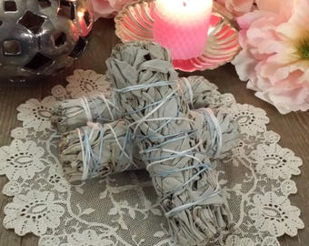 Mini Sacred White Sage smudge Bundle - Smudging wands