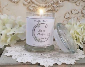 Moon Magic Jar Candle, Altar Candle, Ritual Candle