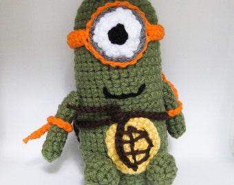 Mini Minion Ninja Turtle Amigurumi