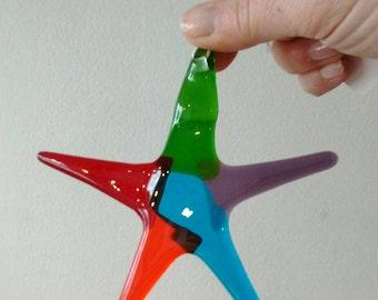 Fused glass star - glass art gift - garden art gift - star - glass star - thank you gift - fused glass art - fused glass gift - glass gift