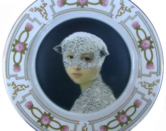 """Mary Was a Little Lamb Plate 9"""""""