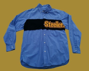 Upcycled Steelers Shirt Mens Size L/XL