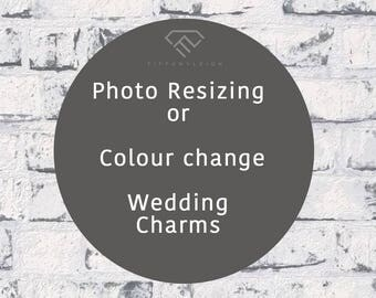 Photo Resizing, Colour Change Photo editing for charm, Rescale your image for memory charm