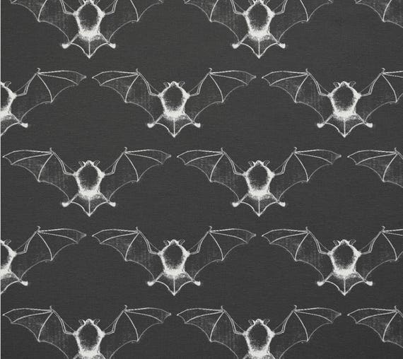 "Vampire Bat fabric swatch 9""x9"""