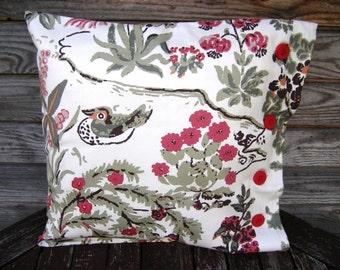 Pillow Cover, Linen home decor, Cotton Throw Pillow 16x16 inch, Colorful Pillow, Retro pillow Decorative Pillow, Handmade, Linen Cushion