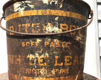 Metal Bucket with Advertising - Dutch Boy