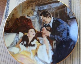 "Gone With The Wind ""Scarlett and Rhett's Honeymoon"" Collectible Plate"