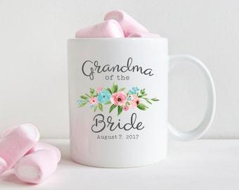 Grandmother Wedding Gift Grandma Wedding Gift Grandma of the Bride Gift Family Wedding Gift Coffee Mug Wedding Mug Floral Pink