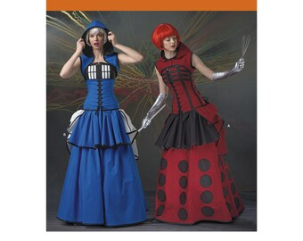 Pick Your Size - Simplicity Costume Pattern 1095 by LORIANN - Misses' Elaborate Cosplay Costumes in Two Options - Loriann Costume Designs