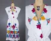 vintage 1970s colorful dress | PBJ