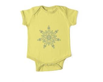 Baby Onesie Snowflake design
