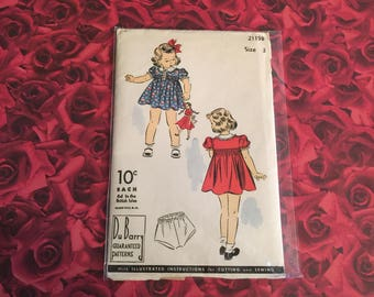 50's Vintage Sewing Pattern Child's Dress