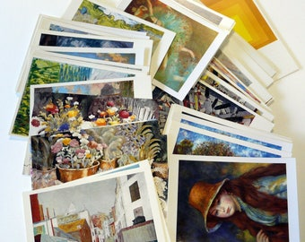 50 Vintage Art postcards Degas Sisley Monet Van Gogh, Cezanne and more