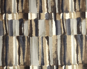 Contemporary Fabric With A Water Color Feel Black, Brown, Grey