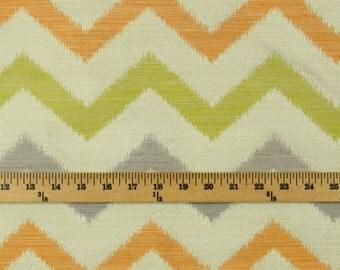 Whitaker Cactus Polyester Chevron Grey Orange Green Fabric