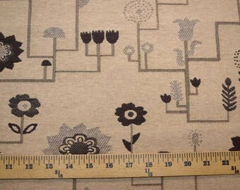 Tan Brown Flowers Fabric