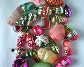 Vintage Christmas Decorations Glass Baubles Ornaments set of 20 Set 19 1970s from Russia Soviet Union USSR