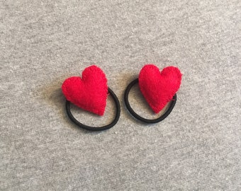 Heart Ponytail Holders
