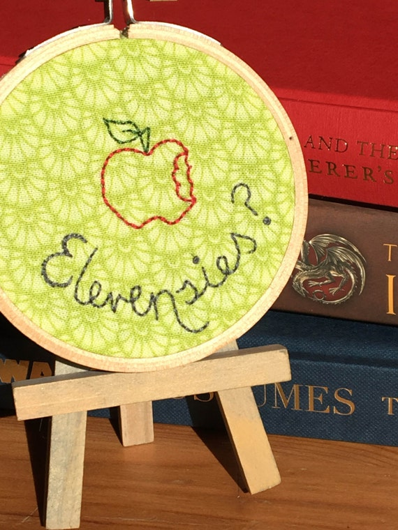 Mini Lord of the Rings Embroidery Hoop- Elevensies