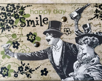 The Big Day ACEO On Etsy Artwork Collectible Art Cards Original Design Victorian ACEO Etsy Artist Trading Card By AlteredHead