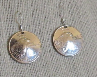 State Quarter Earrings - 2007 Idaho ON SALE