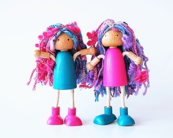 Dollhouse Fairy Dolls - Bendable Arms and Legs -Unique Gift - Waldorf Style Valentines Day