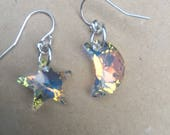 Give her the moon and stars Swarovski crystal earrings