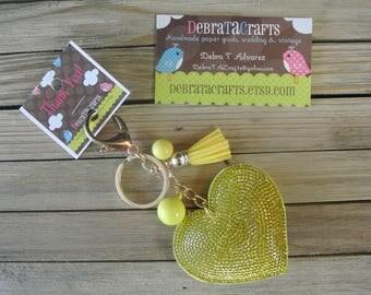 Yellow Heart Keychain