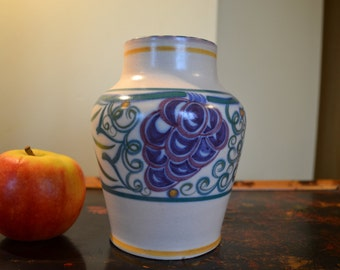 1920s Poole pottery vase grape motif Truda Adams TR pattern collectible pottery
