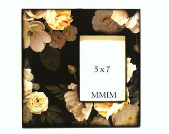12 x 12 Picture Frame - Dogwood Flowers, Romantic, Mother's Day, Home Decor, Handmade, Elegant 5 x 7 Photo Frame