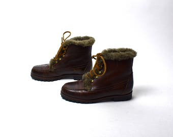 Shearling Lined Ankle Boots by Cole Haan, Women's Size 5 1/2, Wonderful Condition