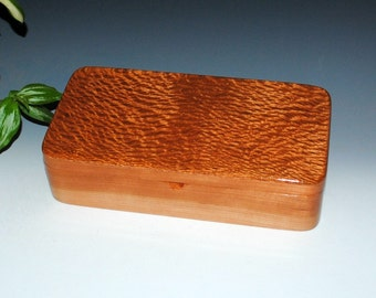 Handmade Wooden Box With a Tray That Slides - Lacewood on Cherry by BurlWoodBox - Jewelry Box, Stash Box,Desk Box, Wooden Jewelry Box, Boxes