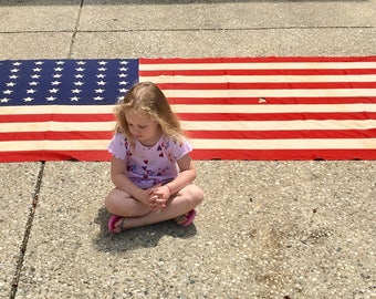 Vintage 48 Star American  Flag - 9 x 5 Feet