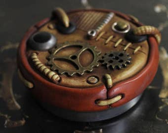 Steampunk ring box stash tin