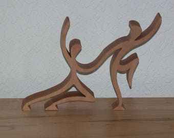 Dancers with a Contemporary Flair - Pair of Dancers - Anniversary or Wedding Gift - Wooden Dancers