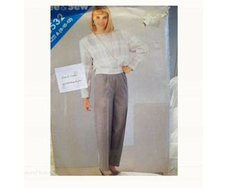 Butterick See and Sew Pattern 5532 - Vintage Jacket and Pants Pattern - Uncut