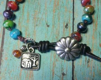 Fiesta Bracelet/Boho-style bracelet/ knotted bracelet/Handmade bracelet
