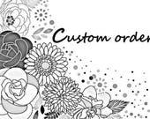 Custom order - Paper doves