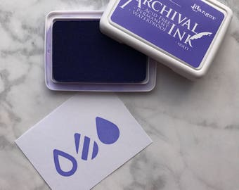 Violet Ranger Archival Ink, Purple Ranger Ink, 2.5 inch x 3.5 inch, Stamp Ink Pad, Waterproof ink, Acid free ink, Quick Drying Stamp In
